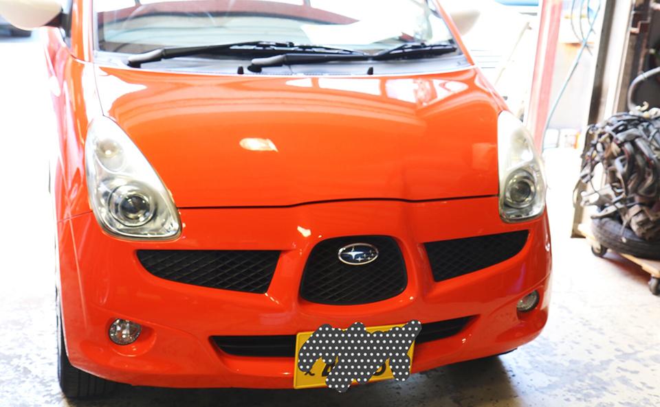 「スバル R1」オールペイントの車検とメンテナンス