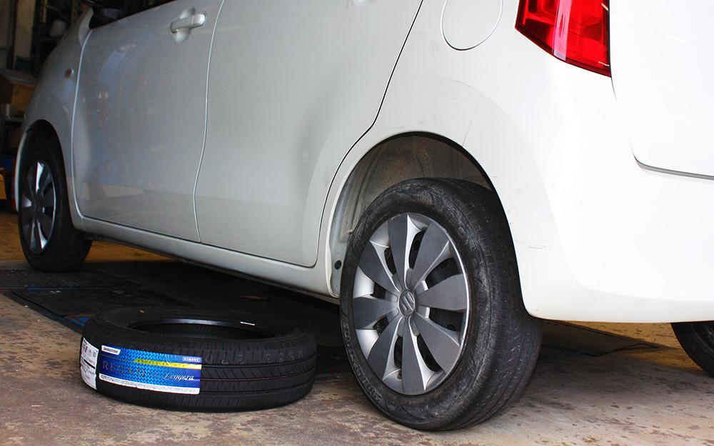ワゴンRのエアコン修理と高性能タイヤ(レグノ)