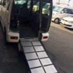 介護車輌の代車「ハイゼットスローパー」車椅子移動車
