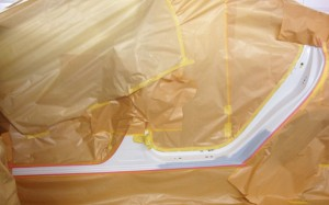 トヨタ・アリオンの鈑金塗装